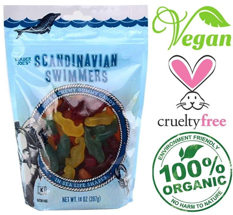 trader joe swimmers candy