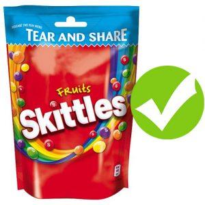 organic skittles yes