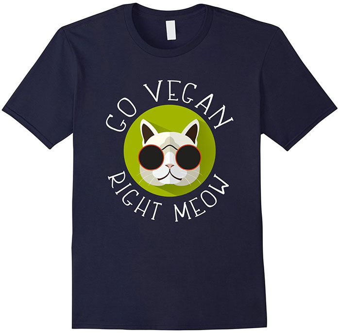 go vegan meow shirt