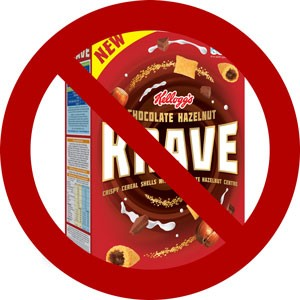 krave cereal box