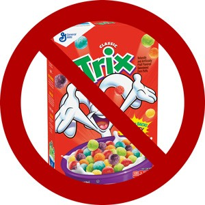 trix cereal box