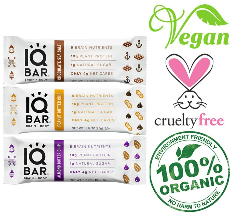 IQ organic snack bar