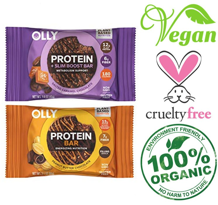 olly plant based protein bar