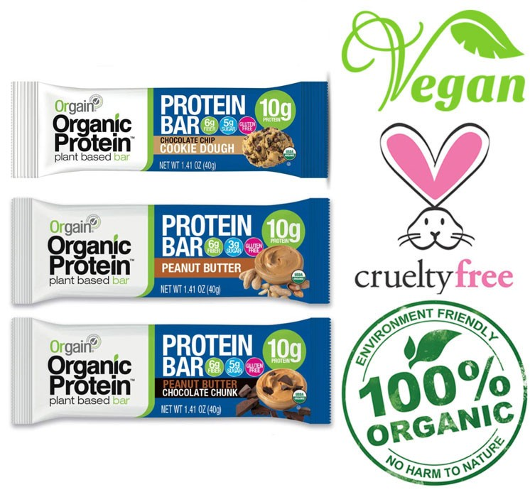 orgain vegan protein bars