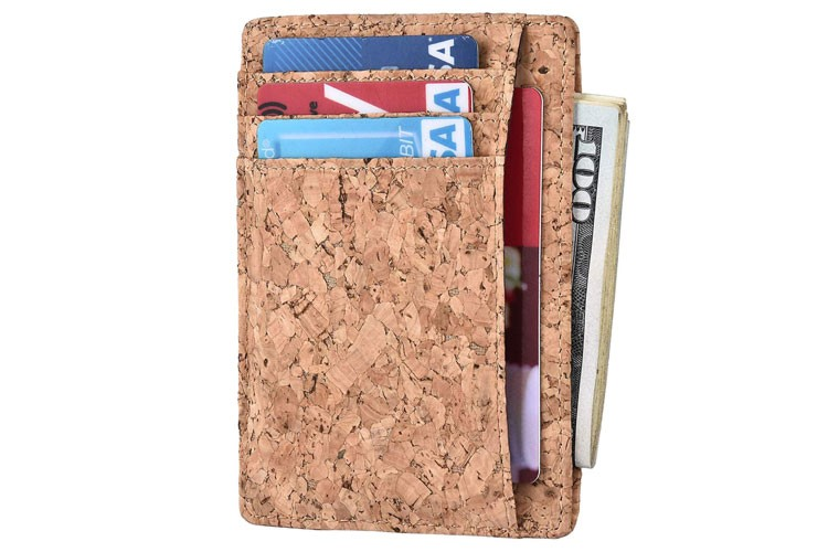 slim rfid cork wallet