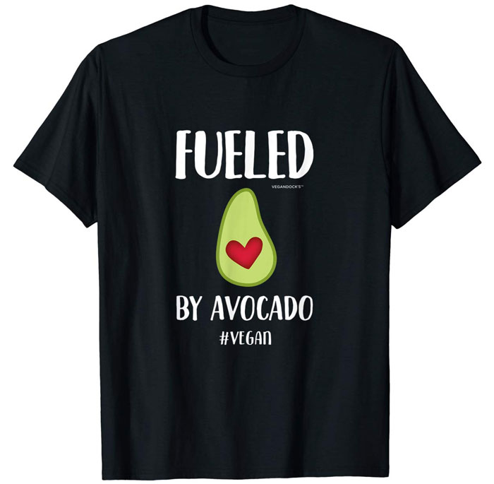 vegan avocado shirt