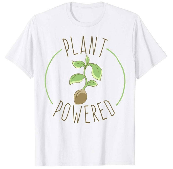 white plant powered top