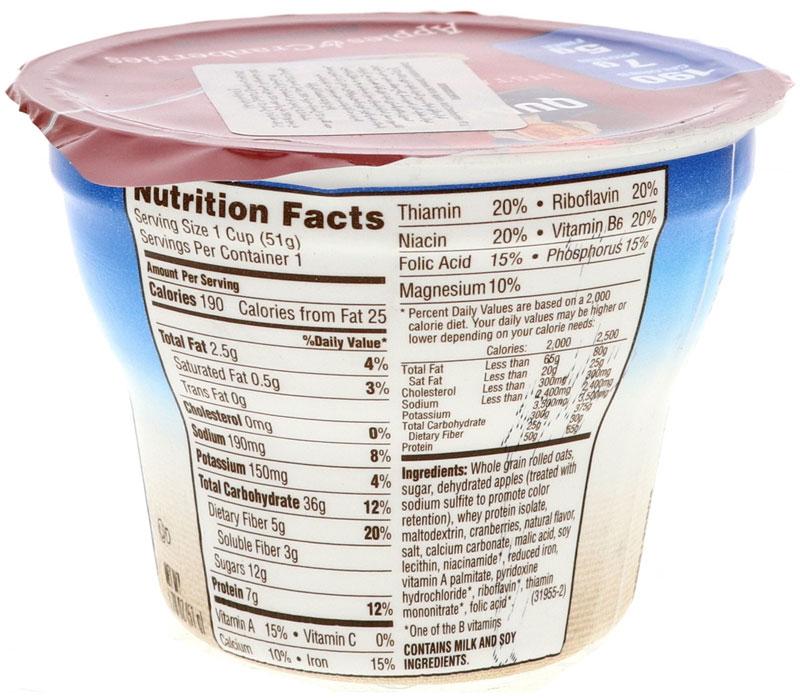 quaker instant oats ingredients