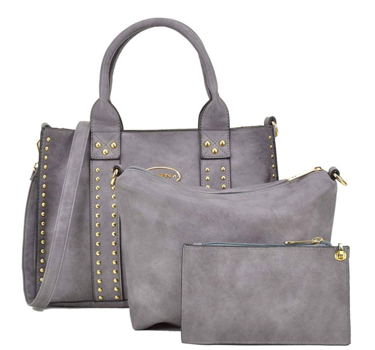 dasein vegan leather handbag set