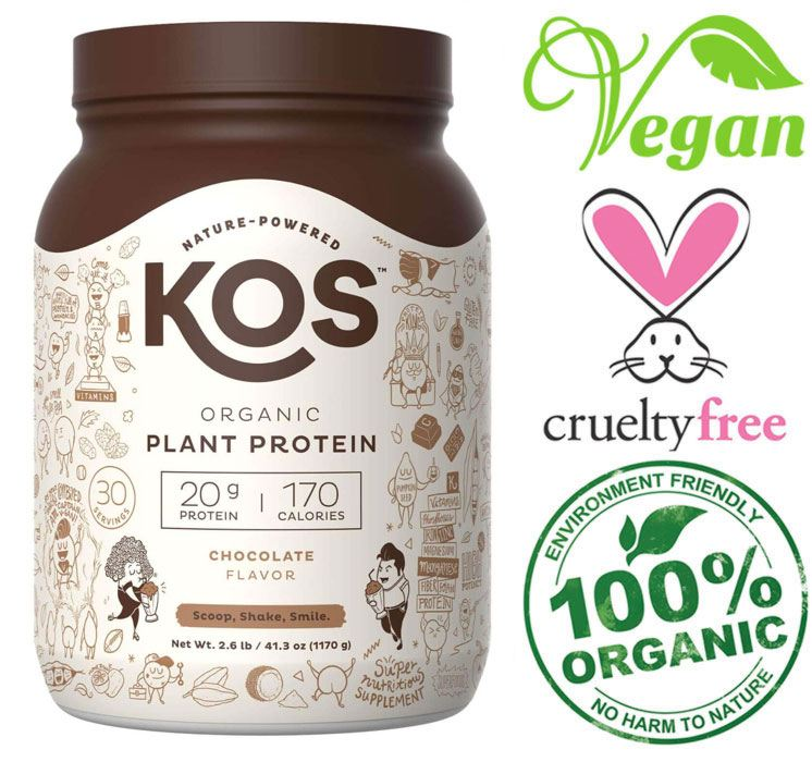 kos vegan chocolate protein powder