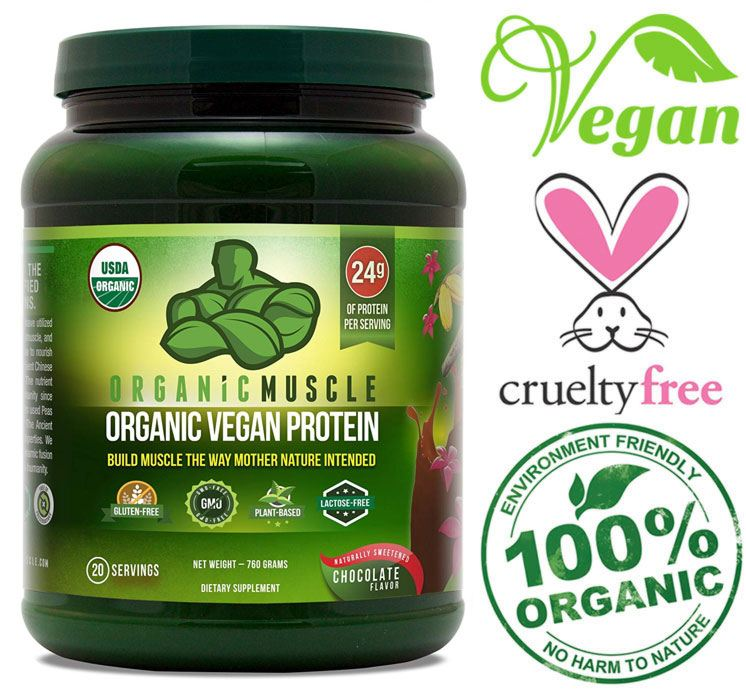 organic muscle plant protein powder